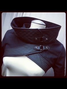 Quilted cowl jacket | plastik army