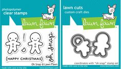 Lawn Fawn Clear Stamp and Lawn Cuts Die Set - OH SNAP- LF983 & LF 984