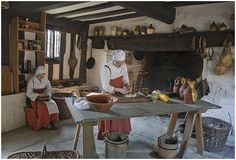 This is the kitchen in the house of Mary Arden who was the mother of William Shakespeare.
