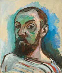Henri Matisse (Fr. 1869-1954) Self-portrait in a striped T-shirt (1906) Oil on canvas (55 x46 cm)
