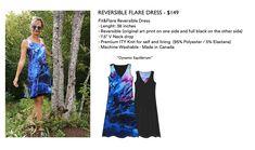 Reversible Dress, Flare Dress, Wearable Art, Tie Dye Skirt, Art Prints, Knitting, The Originals, Skirts, How To Make