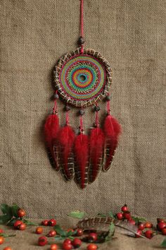 Dream catcher/Colorful Gypsy by MyHappyDreams on Etsy