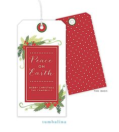 Hanging gift tags are perfect for a bottle of wine or a gift!