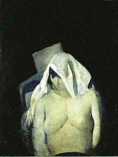 Edwin Dickinson_Nude With White Scarf_1925_oil on fiberboard_36x30""