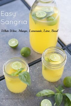 Post image for White Sangria with Mango, Key Lime, Pineapple and Basil