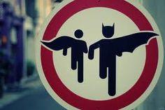 Placa para fãs de Batman