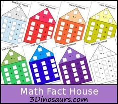 This looks like a fun way to learn math facts! Download a free set of Math Fact House Worksheets. Here are additional math freebies #learnmathfacts