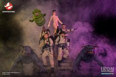 Ghostbusters that Igor Catto and I sculpted at Iron Studios. Ghost Busters, Victor Hugo, Action Figures, Joker, Iron, Cartoon, Toys, Artwork, Movies