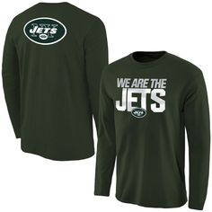 Men's New York Jets NFL Pro Line Green Statement Long Sleeve T-Shirt