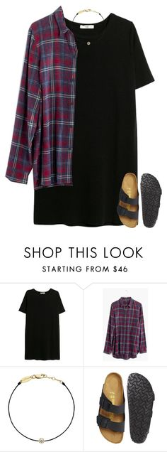 """""""Its not even been a month at school and I've already caught a cold😩😷"""" by pineappleprincess1012 ❤ liked on Polyvore featuring MANGO, Madewell, Redline and Birkenstock"""