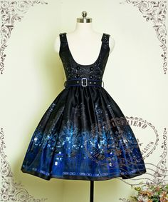 Time Lord Cyber Gothic Underbust Dress/JSK*2colors Instant Shipping