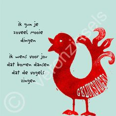 Canvasdoek Geluksvogel von Gedichtenatelier Veronzinsels auf DaWanda.com