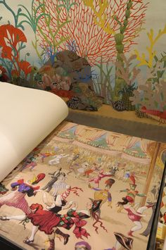 The stunning 'Cabaret' wallpaper from Cole & Son's Whimsical collection