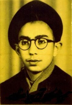 A photo of Ali Khamenei the current Supreme Leader of Iran when he was a young student attending religious studies in Mashad. (Year ?)     Born to an Azerbaijani father and a Yazd-native mother in Mashhad, Ali Khamenei began religious studies before completing elementary education.    The son of a cleric, he is second eldest of eight children, and two of his brothers are also clerics. His younger brother, Hadi Khamenei, is a notable newspaper editor and cleric.    He attended religious…