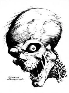 Horror Comic Art | ... October 2006: Halloween and Horror Related Themes Comic Art Sketchbook