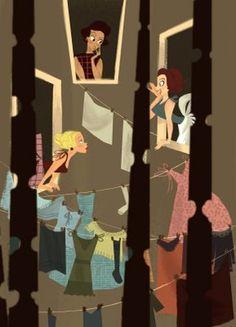 "Lorelay Bove's super-saturated, super-stylized and super-cute ""the Gossip"""
