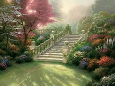 Stair Way To Paradise  by Thomas Kinkade