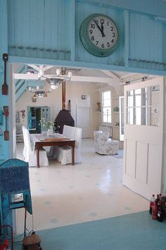 wow lovely converted barn with a coastal vintage beachy feel
