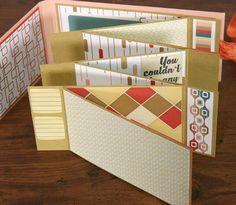 The Efficient Crafter: Zig Zag Mini Album #clubscrap #handmadebook