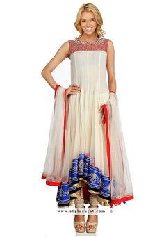 Alluring Off White Color Georgette Fabric Designer Salwar Suit