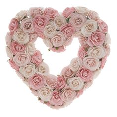 I pinned this Faux Rosebud Heart Wreath from the DecorChick! event at Joss and Main!