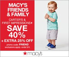 Save 40% off Carter's plus extra  25% off with promo code