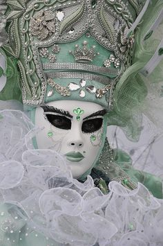 mint.quenalbertini: Mint & White Venice Mask | Flickr Photo Sha- ring