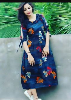 Salwar Designs, Simple Kurti Designs, Kurta Designs Women, Kurti Designs Party Wear, Printed Kurti Designs, Sleeves Designs For Dresses, Dress Neck Designs, Blouse Designs, Frock Design