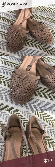 Flats Cute flats go with everything.some wear shows in pics. Shoes Flats & Loafers