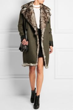 Tom Ford | Shearling-lined cashmere and wool-blend coat | NET-A-PORTER.COM