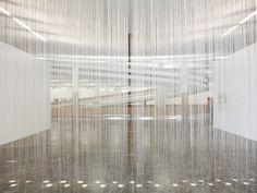 Ondas Paradas da Probabilidade (1969), obra de Mira Schendel integra nova mostra na Bienal (Foto: Pedro Ivo Trasferetti)