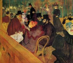 Henri de Toulouse-Lautrec. At the Moulin Rouge. 1892-93. Post-Impressionism.