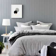 Stylish pleated detail on a plain base cloth of soft grey creates a classic quilt cover for any décor.   Complementing european and standard pillowcases complete this stylish design from Home Republic.