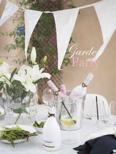 Avec Sofié blog collaboration with J.P Chenet / Garden party with burgers and bubbles!