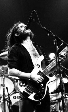 Lemmy Kilmister - on stage