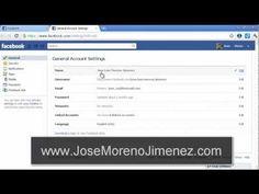http://JoseMorenoJimenez.com Como cambiar el idioma de una cuenta de Facebook