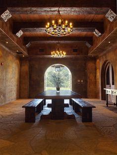 Rustic #winery lobby - Grassini Family Winery in Happy Canyon, CA #santaynez @grassiniwines
