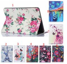 IPad Air 2 Flower PU Leather Case With Card Slots For Apple iPad 6 Air 2 Case Folio Stand Protector Skin For iPad Air 2 Cover