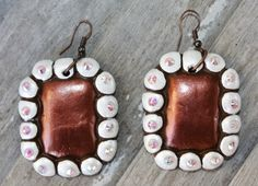 Presidio Brown and White Square Earrings  $29.95  http://www.giddyupglamouronline.com/catalog.php?item=7213