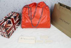 stella mccartney falabella orange Louis Vuitton Bags, Louis Vuitton Twist, Stella Mccartney Falabella, Designer Handbags, Leather Shoulder Bag, Hermes, Chanel, Purse, Orange