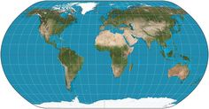 The most underrated map projection: The Natural Earth Projection