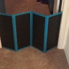 DIY Dog Gate. Take 4 Pieces Of Wood, Some Paint And Duct Tape.
