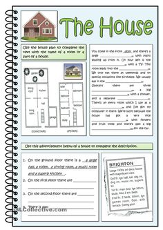 THE HOUSE - English ESL Worksheets for distance learning and physical classrooms Vocabulary List, English Vocabulary, English Grammar, English Reading, English Study, Learn English, English Tips, English Lessons, English Beginner