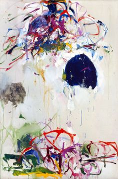 untitled oil on canvas, Joan Mitchell