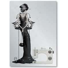 Fashion / Seamstress Card - SRF Business Card by Sharon Rhea