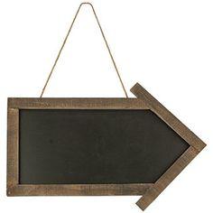 Framed Arrow Blackboard - Primitive Country Rustic Chalkboard Message Board Wall Decor