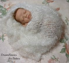 Exquisite Mohair Photo Prop, Basket Filler, Newborn Wrap, White Baby Swaddle, Photography Prop, Layering Blanket, Free US Shipping by dreamfancies on Etsy