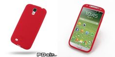 PDair Luxury Silicone Case for Samsung Galaxy S4 SIV LTE GT-i9500 GT-i9505 (Red)