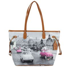 8bd0d78334 Borsa Donna Y NOT ? Shopping Art.C-319 Media New Collection 2014 Stampa