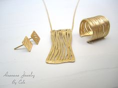 Gold Jewelry Set via Etsy